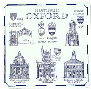 A Heritage Gift - Oxford Drinks Coaster (Pack of 4)