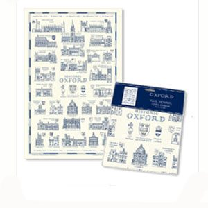 A Heritage Gift - Oxford Cream and Blue Tea Towel
