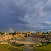 BlenheimPalace-ÔÇô-Courtyard-Aerial-Rainbow