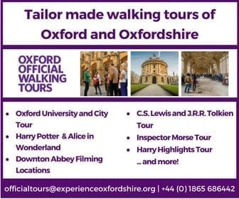 Tailor made walking tours of Oxford and Oxfordshire - Oxford Official Walking Tours