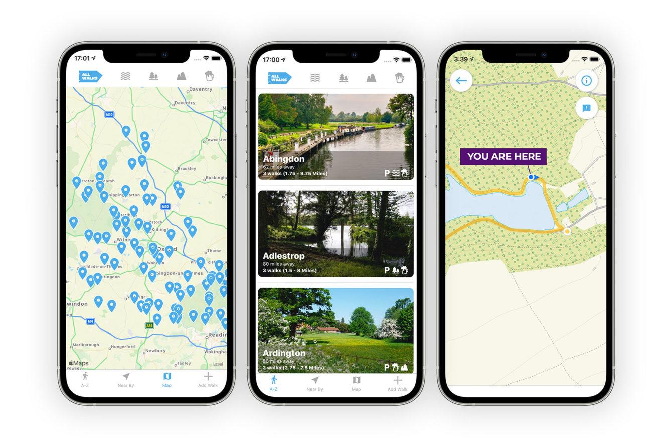 local walks Oxfordshire app